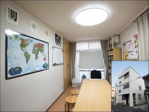 教室の外観とレッスンルームです。
